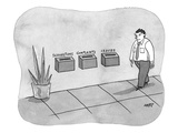 Three different boxes for: 'Suggestions, Complaints, and Issues.' - New Yorker Cartoon Premium Giclee Print by Kim Warp