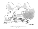 """He's swearing in full sentences now."" - New Yorker Cartoon Premium Giclee Print by Pat Byrnes"