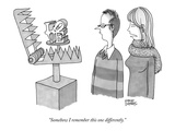 """Somehow I remember this one differently."" - New Yorker Cartoon Premium Giclee Print by Steve Duenes"