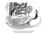 """This has merit, but could you go back through and add more 'like's and 'y…"" - New Yorker Cartoon Giclee Print by W.B. Park"