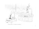 """I don't like it. It smacks of trickery."" - New Yorker Cartoon Premium Giclee Print by Unknown Alain"