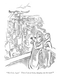 """My God, Aggie! There I am at home, hanging out the wash!"" - New Yorker Cartoon Premium Giclee Print by George Price"