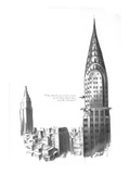 """They haven't got a single tenant on the fifty-fourth floor yet, Mr. Chrys…"" - New Yorker Cartoon Regular Giclee Print by Carl Rose"