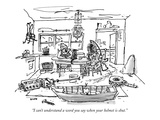 """I can't understand a word you say when your helmet is shut."" - New Yorker Cartoon Premium Giclee Print by George Booth"