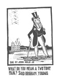 Wealthy man standing with a cane. - New Yorker Cartoon Premium Giclee Print by Jr., John Held