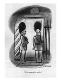 """It's naturally curly."" - New Yorker Cartoon Premium Giclee Print by Fritz Wilkinson"