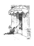 "Man crawling along street reaches for ""Midtown Health Club"" door. - New Yorker Cartoon Premium Giclee Print by Robert Weber"