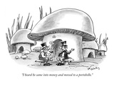"""I heard he came into money and moved to a portobello."" - New Yorker Cartoon Premium Giclee Print by Mike Twohy"