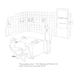 """Recognition at last! The Museum of Modern Art wants to give me a one-man …"" - New Yorker Cartoon Giclee Print by  Alain"