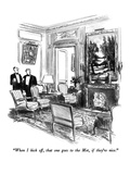 """When I kick off, that one goes to the Met, if they're nice."" - New Yorker Cartoon Premium Giclee Print by Charles Saxon"