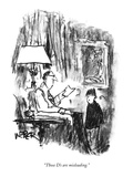 """Those D's are misleading."" - New Yorker Cartoon Premium Giclee Print by Robert Weber"