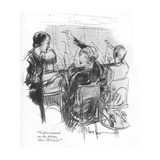 """You're wanted on the phone, Miss McCardy."" - New Yorker Cartoon Premium Giclee Print by Perry Barlow"