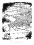 """Lucy, move—you're blocking Pliny the Elder."" - New Yorker Cartoon Premium Giclee Print by Robert Weber"