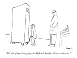 """The title of my science project is 'My Little Brother: Nature or Nurture.'"" - New Yorker Cartoon Premium Giclee Print by Michael Shaw"