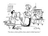 """You have a choice of three-bean salad or lethal injection."" - New Yorker Cartoon Premium Giclee Print by Mike Twohy"