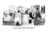 """I'm sorry, I'm not speaking to anyone tonight. My defense mechanisms seem…"" - New Yorker Cartoon Premium Giclee Print by Joseph Mirachi"