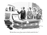 """We also have urns, if you want to think outside the box."" - New Yorker Cartoon Premium Giclee Print by Mike Twohy"