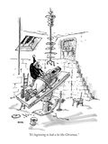 """It's beginning to look a lot like Christmas."" - New Yorker Cartoon Premium Giclee Print by George Booth"