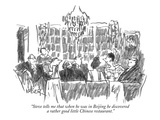 """Steve tells me that when he was in Beijing he discovered a rather good li…"" - New Yorker Cartoon Premium Giclee Print by Robert Weber"