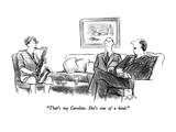 """That's my Caroline.  She's one of a kind."" - New Yorker Cartoon Premium Giclee Print by Charles Saxon"