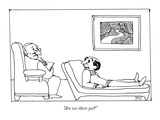 """Are we there yet"" - New Yorker Cartoon Premium Giclee Print by David Stein"