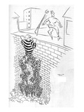 """Boo!"" - New Yorker Cartoon Premium Giclee Print by George Price"