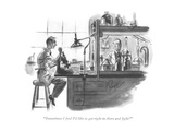 """Sometimes I feel I'd like to get right in there and fight!"" - New Yorker Cartoon Premium Giclee Print by John Ruge"
