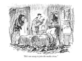 """He's run away to join the media circus."" - New Yorker Cartoon Premium Giclee Print by Robert Weber"