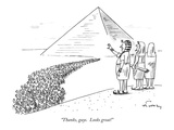 """Thanks, guys.  Looks great!"" - New Yorker Cartoon Premium Giclee Print by Mike Twohy"