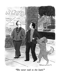 """She never took to the leash."" - New Yorker Cartoon Premium Giclee Print by Danny Shanahan"