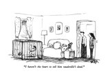 """I haven't the heart to tell him vaudeville's dead."" - New Yorker Cartoon Premium Giclee Print by Robert Weber"