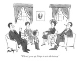 """When I grow up, I hope to win the lottery."" - New Yorker Cartoon Giclee Print by James Mulligan"