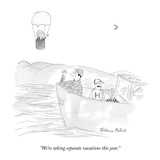 """We're taking separate vacations this year."" - New Yorker Cartoon Premium Giclee Print by Victoria Roberts"
