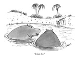 """I hate her."" - New Yorker Cartoon Premium Giclee Print by Tom Cheney"