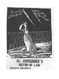 Woman stand by the sea during lightning storm. - New Yorker Cartoon Premium Giclee Print by Jr., John Held