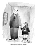 """Have you got any cash on you"" - New Yorker Cartoon Premium Giclee Print by Victoria Roberts"
