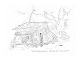 """Good morning, gentlemen. Check your house for termites"" - New Yorker Cartoon Premium Giclee Print by Unknown Alain"