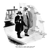 """""""Is it shoot a cold, stab a fever"""" - New Yorker Cartoon Premium Giclee Print by Emily Flake"""