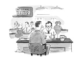 I.R.S. man with a tips mug on his desk. - New Yorker Cartoon Premium Giclee Print by Mike Twohy