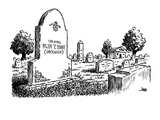 Tombstone reads, Colonel Olin T. Hunt (Deceased - New Yorker Cartoon Premium Giclee Print by John Jonik