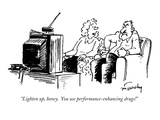 """Lighten up, honey.  You use performance-enhancing drugs!"" - New Yorker Cartoon Premium Giclee Print by Mike Twohy"