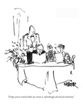 """I hope you've noticed that our menu is refreshingly devoid of creativity."" - New Yorker Cartoon Premium Giclee Print by Robert Weber"