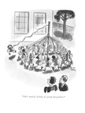 """She's utterly lacking in group integration."" - New Yorker Cartoon Premium Giclee Print by Robert J. Day"