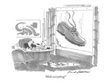 """Hold everything!"" - New Yorker Cartoon Premium Giclee Print by Bernard Schoenbaum"