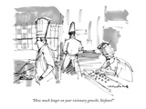 """How much longer on your visionary gnocchi, Stefano"" - New Yorker Cartoon Premium Giclee Print by Michael Crawford"