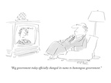 """Big government today officially changed its name to humongous government."" - New Yorker Cartoon Premium Giclee Print by Dean Vietor"