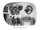 """And that's a huge colander."" - New Yorker Cartoon Premium Giclee Print by Harry Bliss"