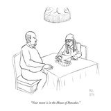 """Your moon is in the House of Pancakes."" - New Yorker Cartoon Premium Giclee Print by Paul Noth"