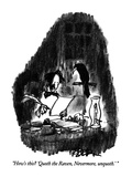 """How's this  'Quoth the Raven, Nevermore, unquoth.'"" - New Yorker Cartoon Giclee Print by Robert Weber"