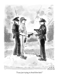 """I was just trying to brush him back."" - New Yorker Cartoon Premium Giclee Print by Marisa Acocella Marchetto"